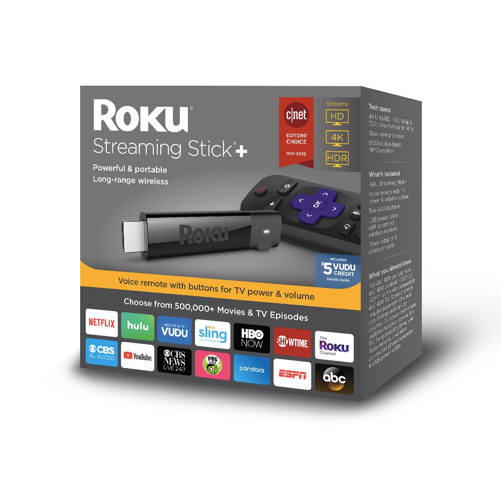 Roku 4K UHD Streaming Stick+ for $40