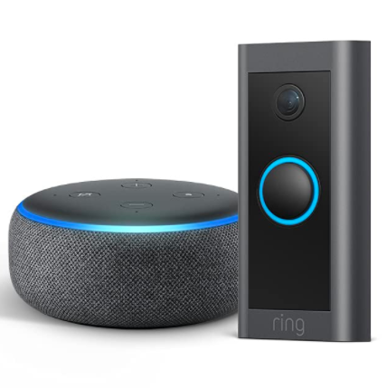Prime members: Ring Video Doorbell Wired with Echo Dot (Gen 3) for $45