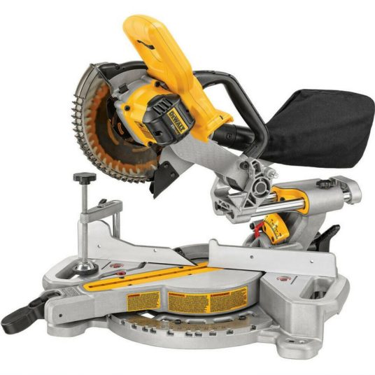 Dewalt 20V cordless 7-1/4 in. compound miter saw (tool only) for $243