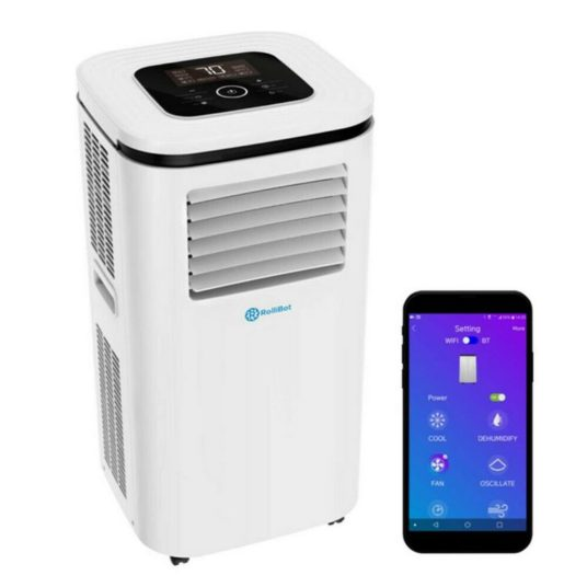 Rollicool 14,000 BTU portable air conditioner with dehumidifier fan for $374