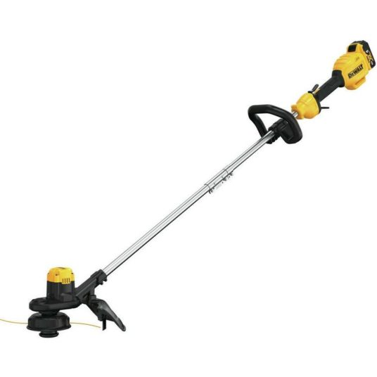 Dewalt 13 in. string trimmer with charger & 4.0 Ah battery for $131